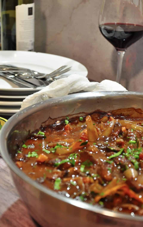 Beef bourguignon - beef, mushroom & red wine casserole