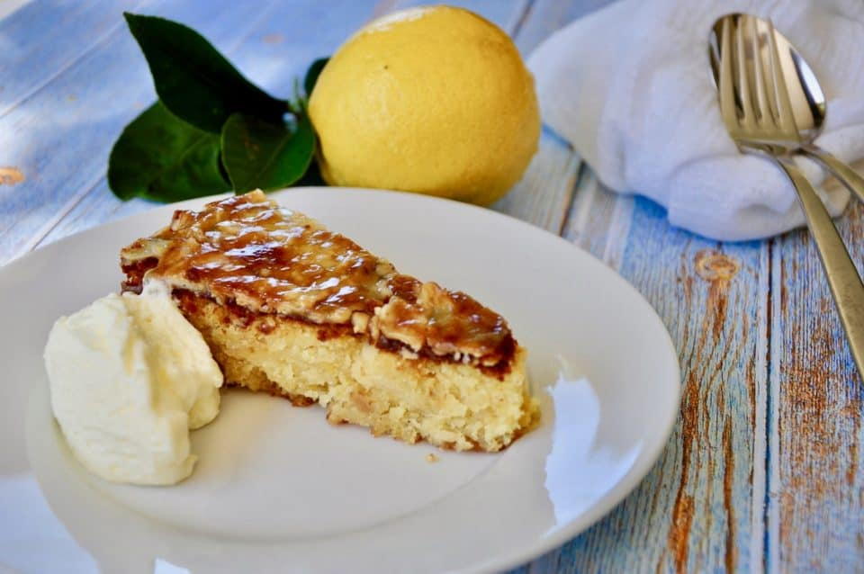 italian lemon, almond and white chocolate cake - gluten free