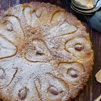 pear and almond crustless tart - gluten free