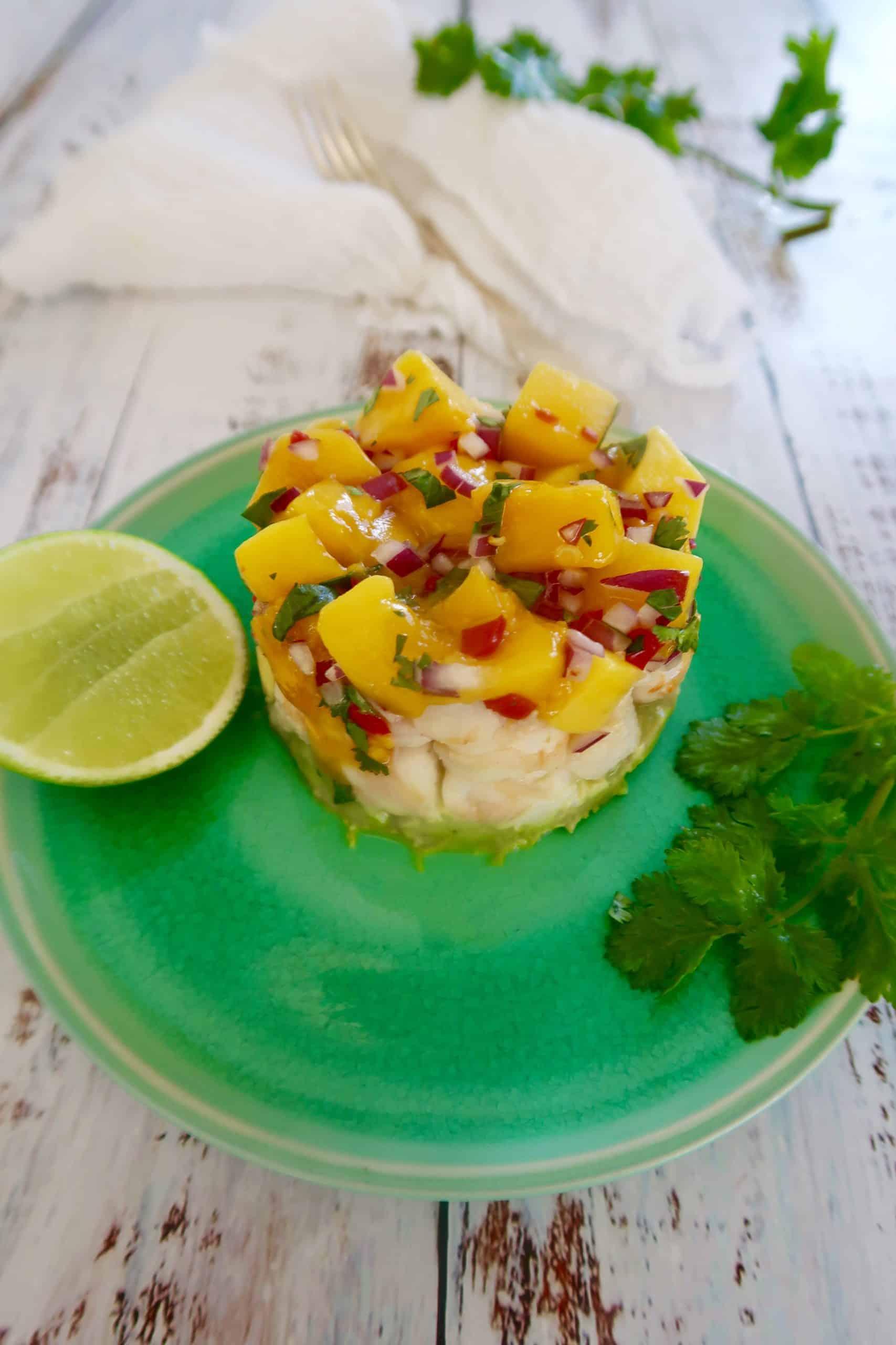 Mexican prawn, mango and avocado salad