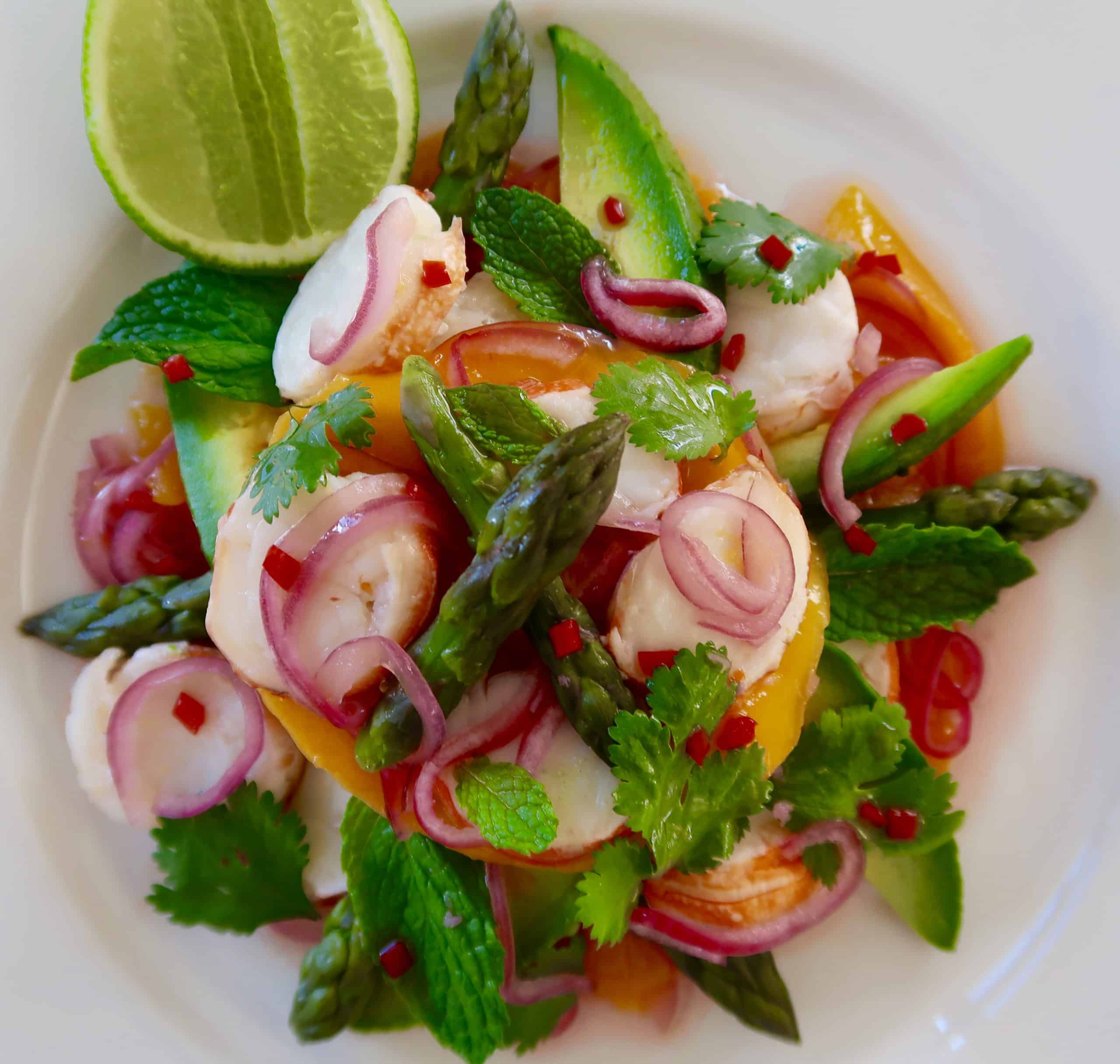 thai mango and lobster salad