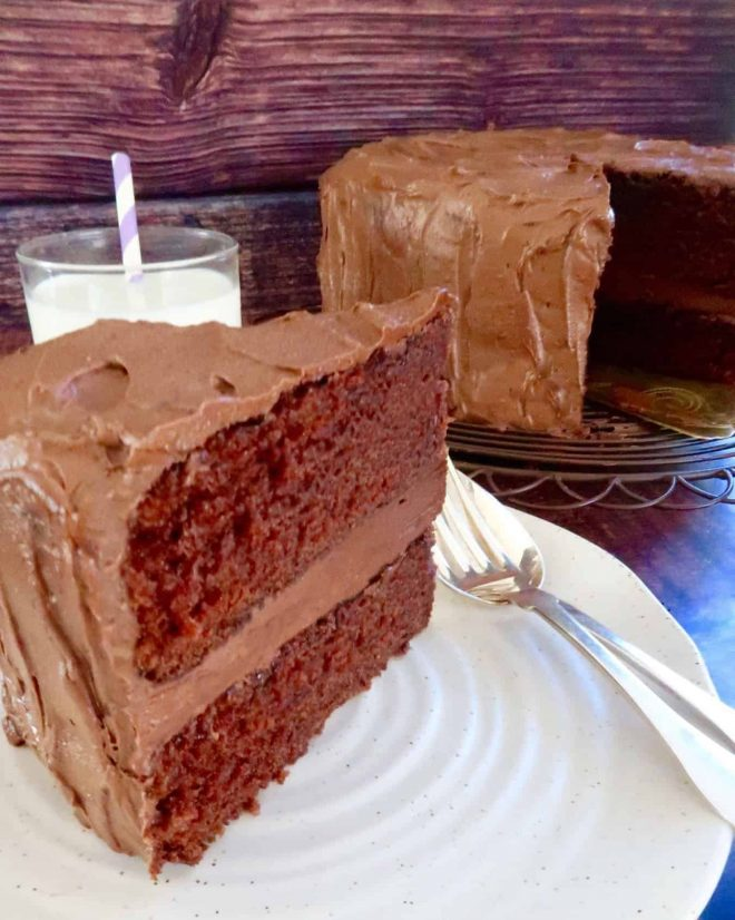 Easy Moist Chocolate Cake with Buttercream Icing