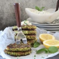 Zucchini fritters with a Turkish twist