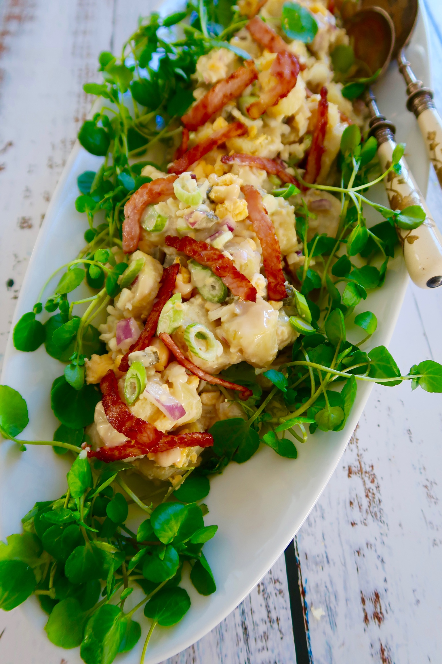 easy egg and bacon potato salad