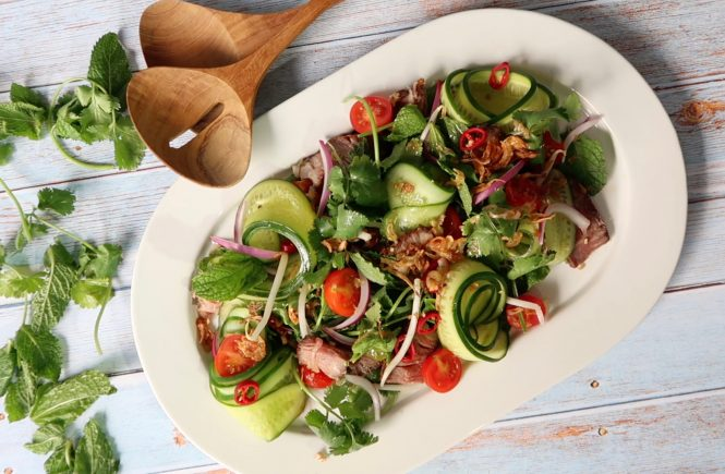 authentic thai beef salad