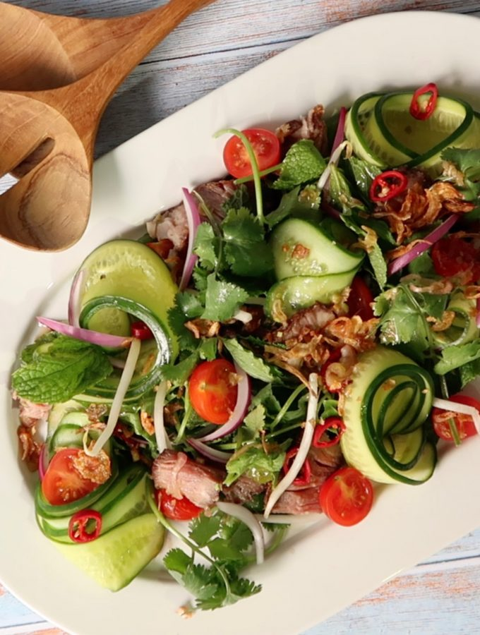 authentic thai beef salad
