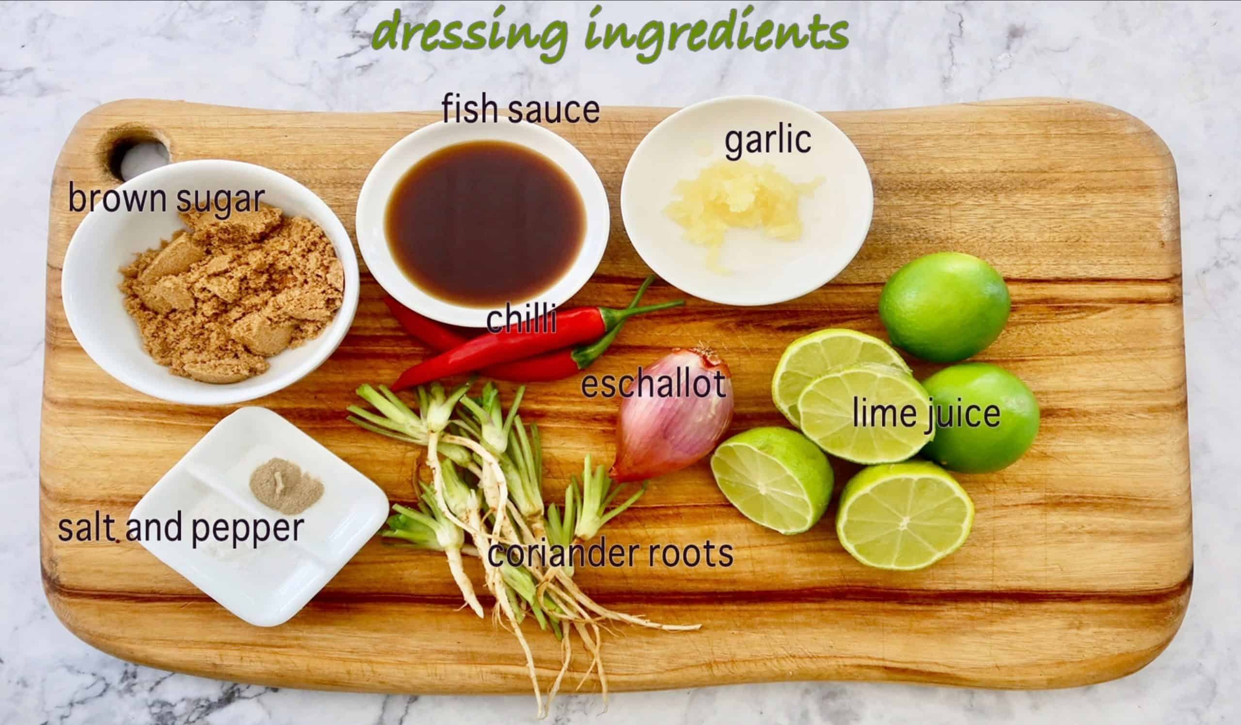 authentic thai beef salad dressing ingredients