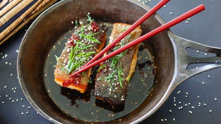 Crispy Skinned Chilli Caramel Salmon