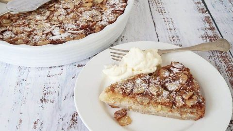 Easy Pear and Almond Impossible Pie