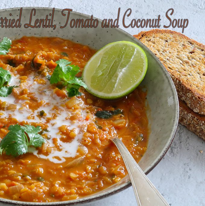 curried lentil, tomato and coconut soup