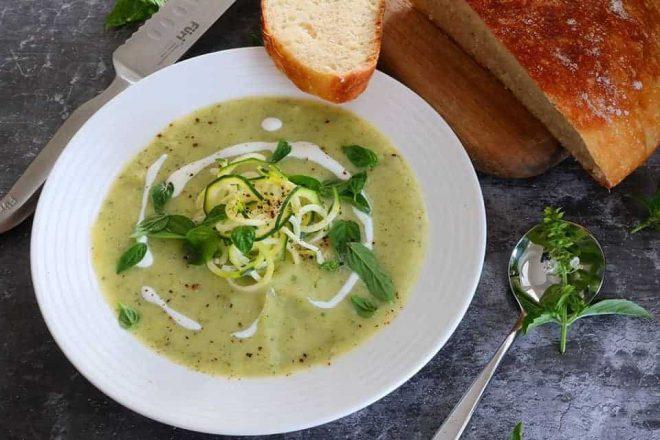 Zucchini and Pesto Soup