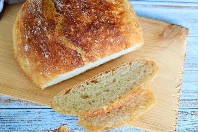 no knead bread to serve with shakshuka