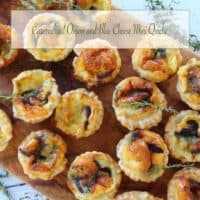 Caramelised Onion and Blue Cheese Mini Quiche