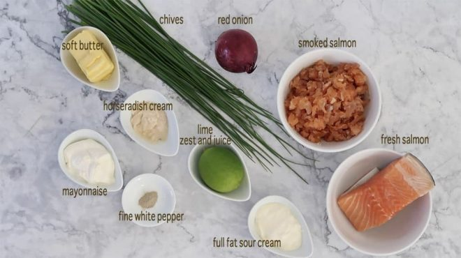 ingredients for Salmon Rillettes