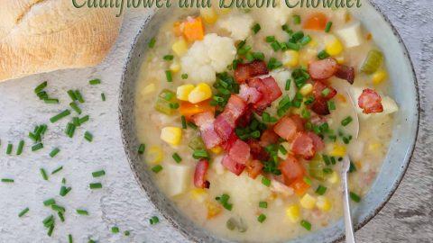 Cauliflower and Bacon Chowder