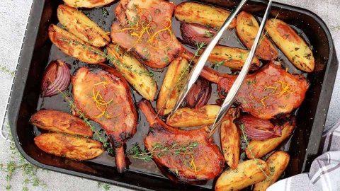 Traybake Pork Chops with Potatoes