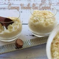 Creamy Vanilla Rice Custard