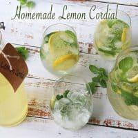homemade lemon cordial