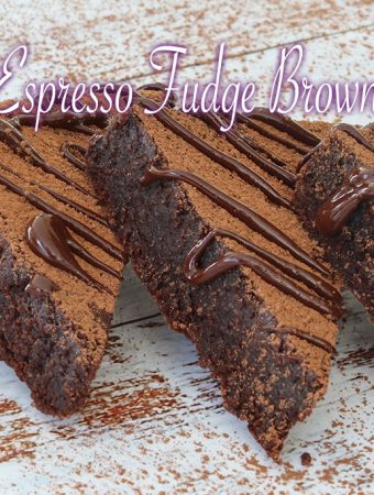 Espresso fudge brownies