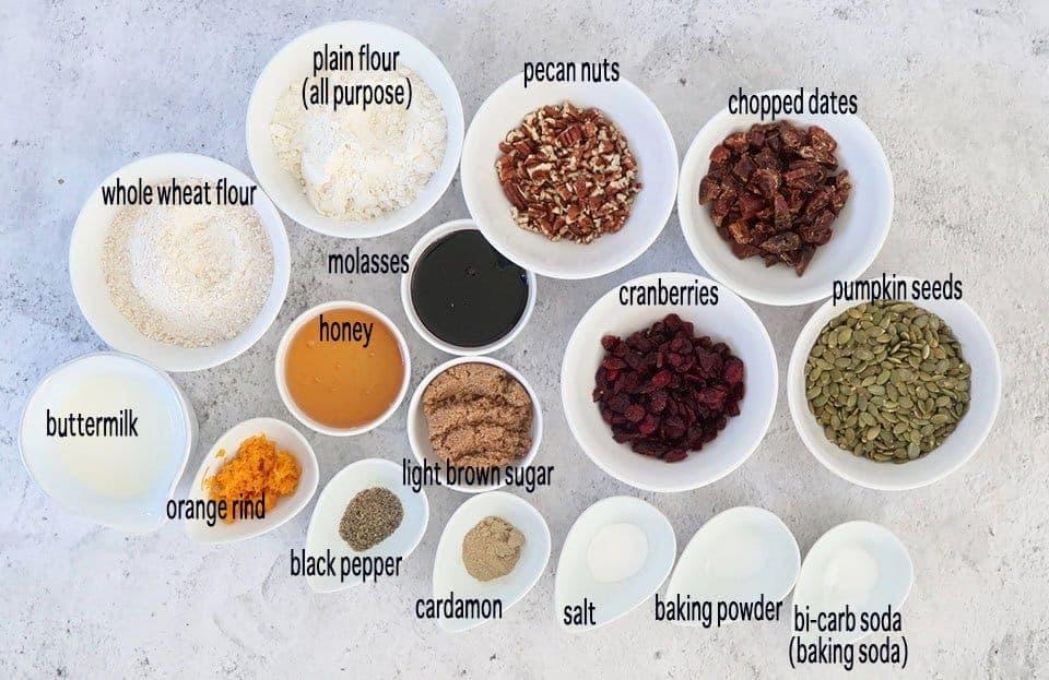ingredients to make homemade gourmet crackers