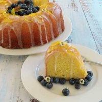 Moist Lemon Sour Cream Cake