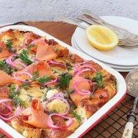 Smoked Salmon Strata