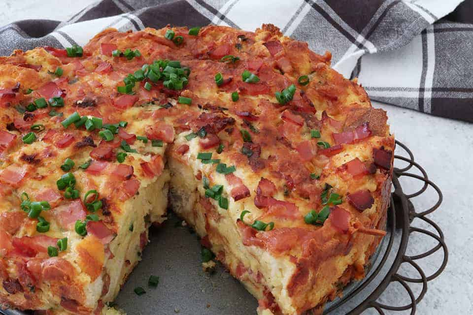 Bacon and Cheese Strata
