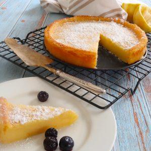easy crustless lemon tart